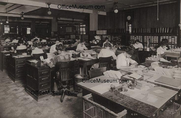 Office with 20 women addressing machines files for small cards OM.jpg (1253×816)