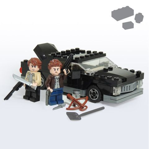Custom LEGO Supernatural Impala Hunters Pack - Parts+Instructions