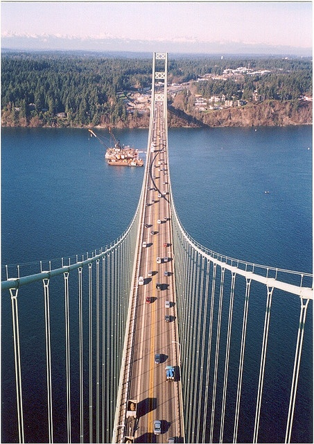 When there was just one bridge.  Tacoma Narrows Bridge