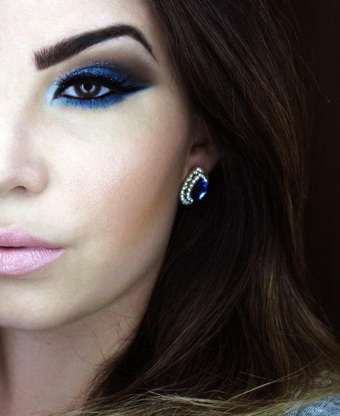 Tutorial – maquiagem azul poderosa por Evelyn Conversani