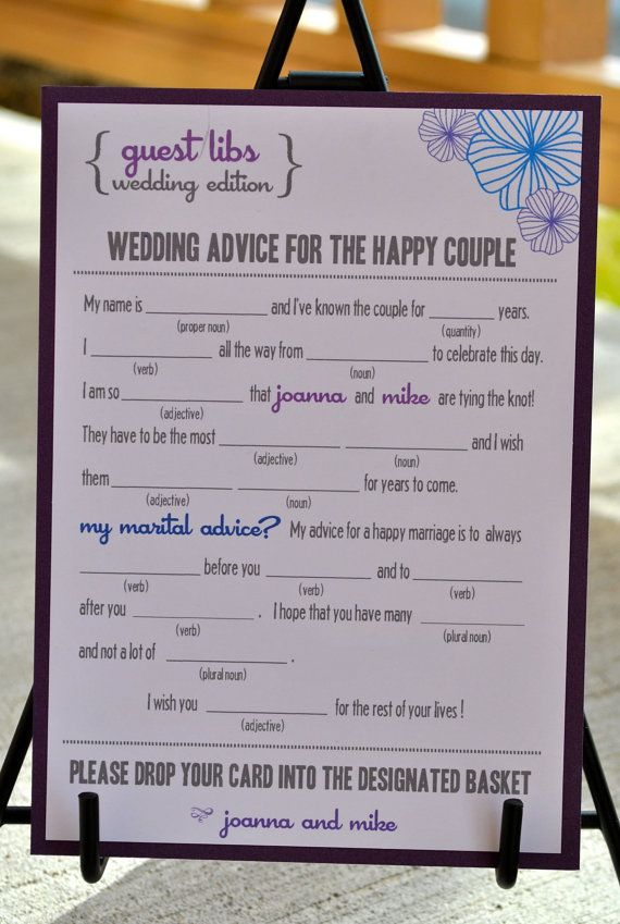 New  MAD LIBS  WEDDING edition  Floral  digital file by BlushNotes, $20.00