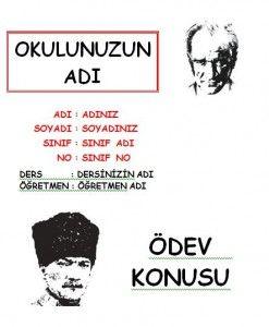 Atatürk ödev kapakları word