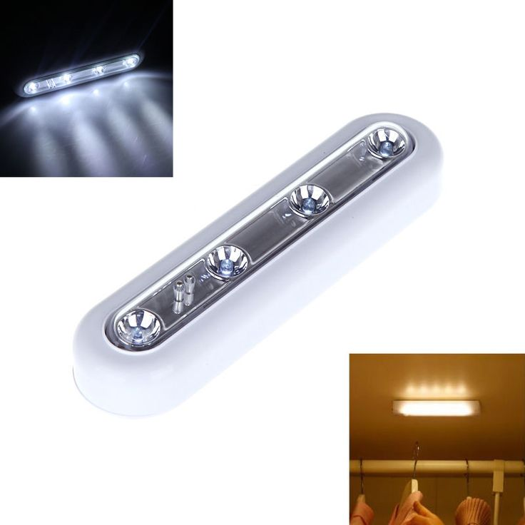 LED Lights Touch Operated Battery Stick On Wall Under Cabinet Cupboard Wardrobe