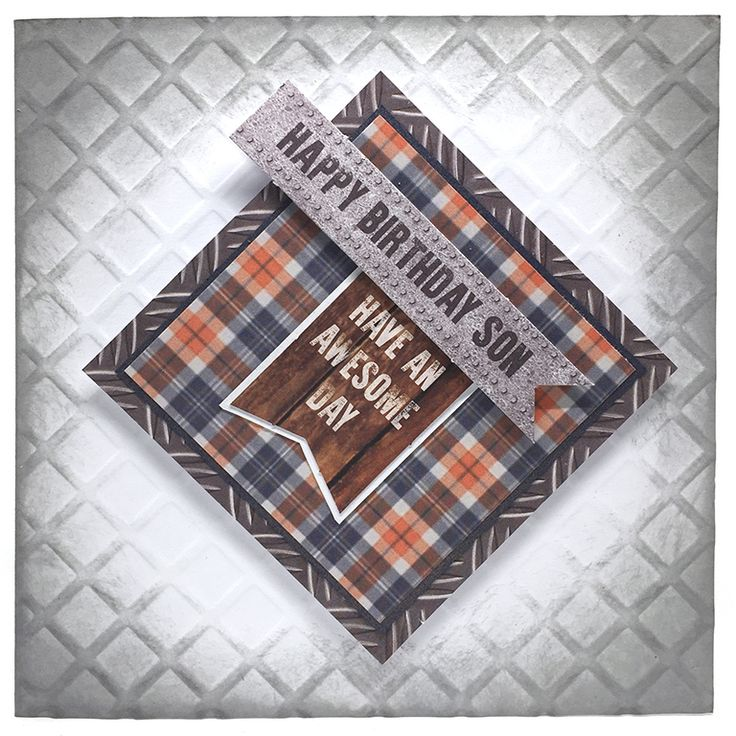 Card Making Ideas For Men Part - 37: Grid Embossed Card By Neil Burley Using Man Made Collection.