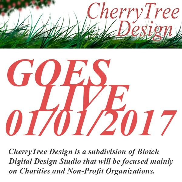 CherryTree Design goes live along with Blotch Design's brand new website on 01/01/2017!! Come check us out on New Year's day xx