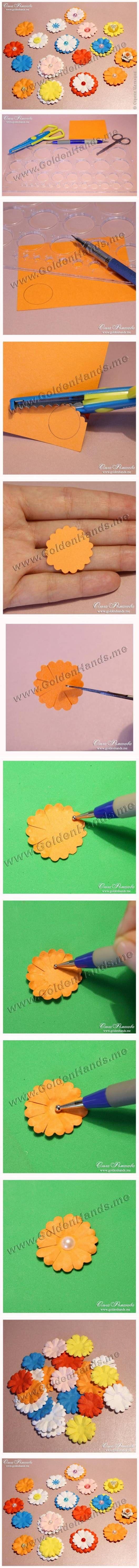DIY Easy Paper Flowers DIY Projects   UsefulDIY.com Follow Us on Facebook ==> http://www.facebook.com/UsefulDiy