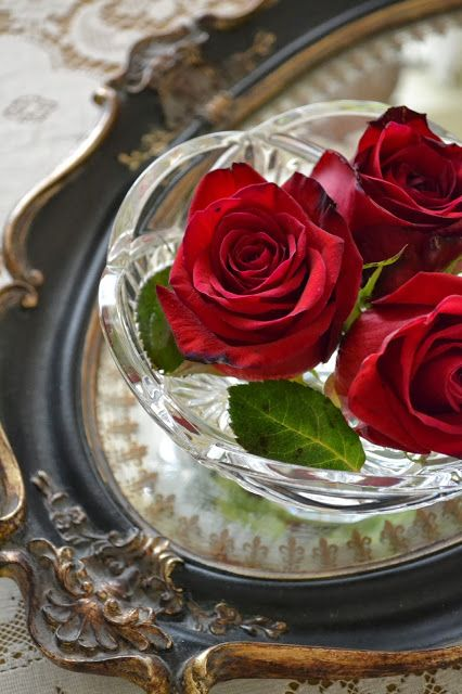 Red Rose Tray