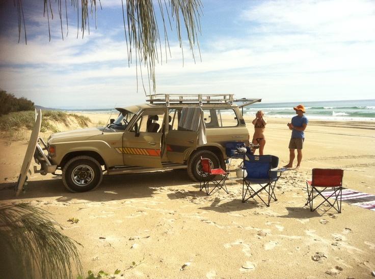 Noosa North Shore beach drive.