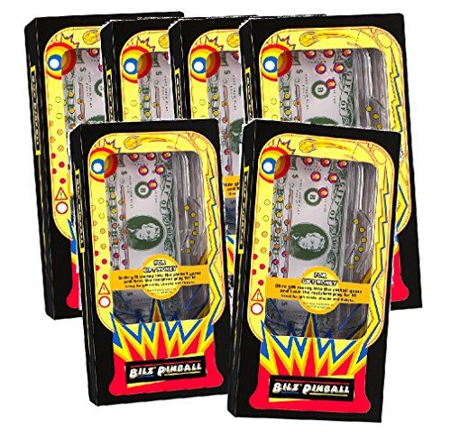 Miniature Pinball Machines - Set of 6 Retro Pinball Money Machine Puzzles  Fun Challenging Gift Holder -- Check out the image by visiting the link.