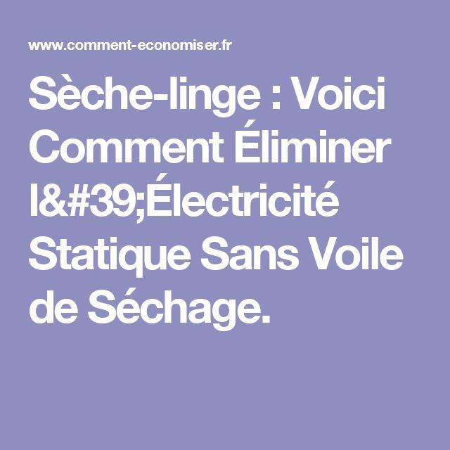 1000 id es sur le th me s che linge sur pinterest s che linge machine th - Astuce electricite statique vetement ...