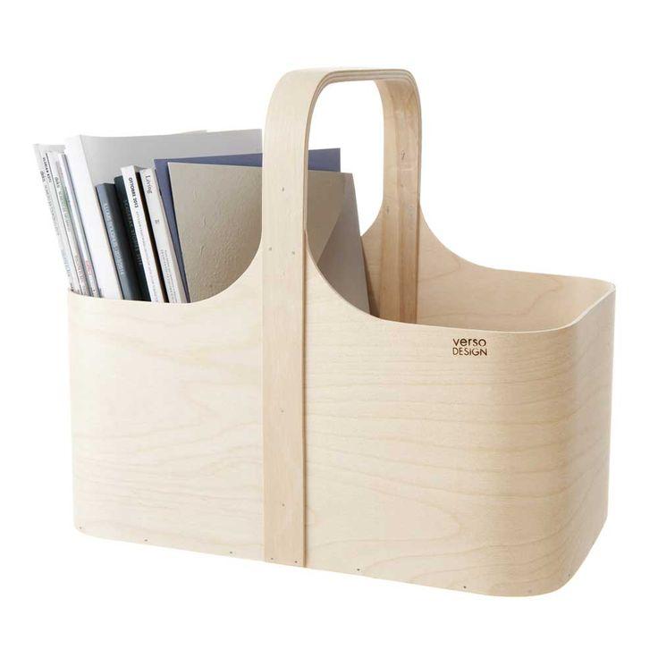 Verso Koppa Birch Magazine Rack | Finnish Design | www.homearama.co.uk | #versodesign #magazineholder #homeaccessories #finnishdesign