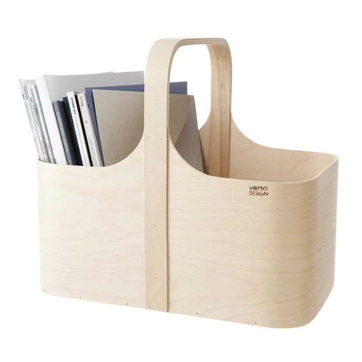 Verso Koppa Birch Magazine Rack | Finnish Design | www.homearama.co.uk | #versodesign #magazineholder #homeaccessories #finnishdesign