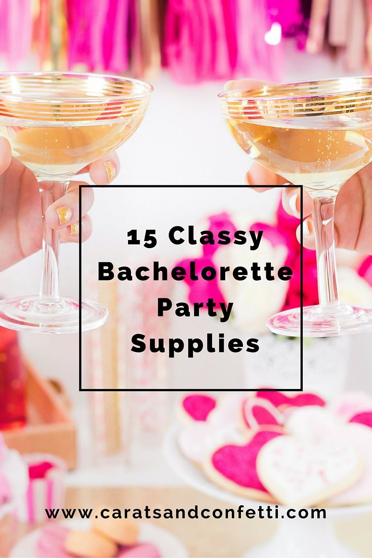 Ladies! Let's get real for a moment. What truly makes a memorable bachelorette party are the fabulous girlfriends and the adorable and thoughtful decorations. So I rounded up a list of my favorite bachelorette supplies. Click the post to find all the glam supplies the bride will love!