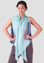 TRE Batik  TRE Batik Cardigan Triangle Biru Tosca
