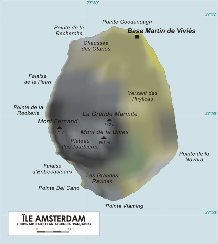 Île Amsterdam, also known as Amsterdam Island, New Amsterdam, or Nouvelle Amsterdam, is an island named after the ship Nieuw Amsterdam, in turn named after the Dutch settlement of New Amsterdam that later became New York City in the United States. It lies in the southern Indian Ocean.