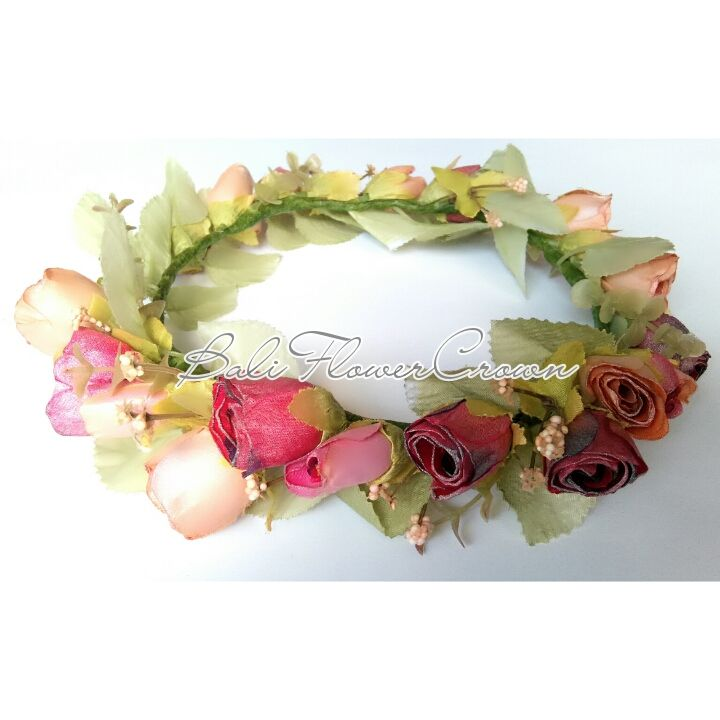 vintage rose flower crown