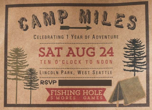 camping birthday party ideas - Camping Party Invitations