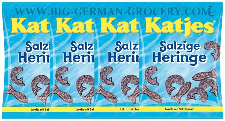 4 X Katjes - Salt Heringe - 200 G Bags - German Production - Shipping Free