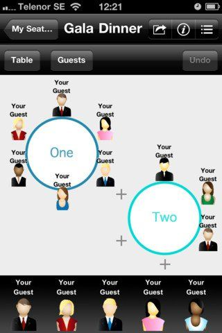 SEATING | Seating Planner + App by Gobee Labs AB - Meshing together two families who may not know one another is often a topic of debate when planning a wedding. However, this app allows you to create the perfect seating chart for your personal wedding! Your guest list can be imported from Facebook, your contacts, or just simply created! It allows you to handle all matters of guest seating in the most efficient way possible! Definitely an app to help plan your big day!