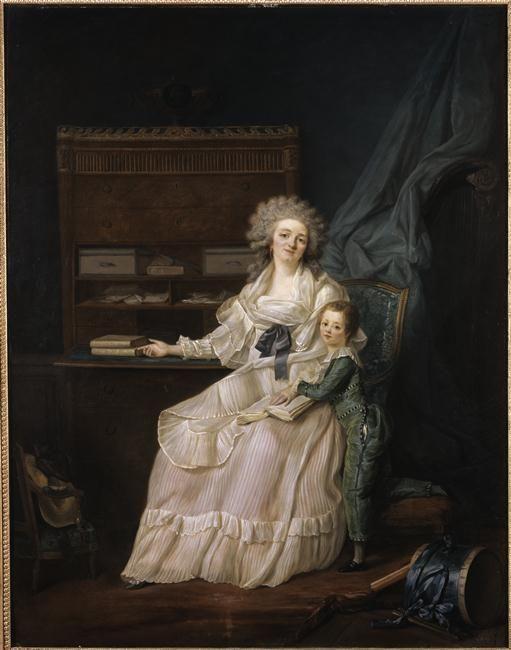 La marquise de Louvois et son fils, late 18th century by Louis Landry (Musee Leblanc-Duvernoy)