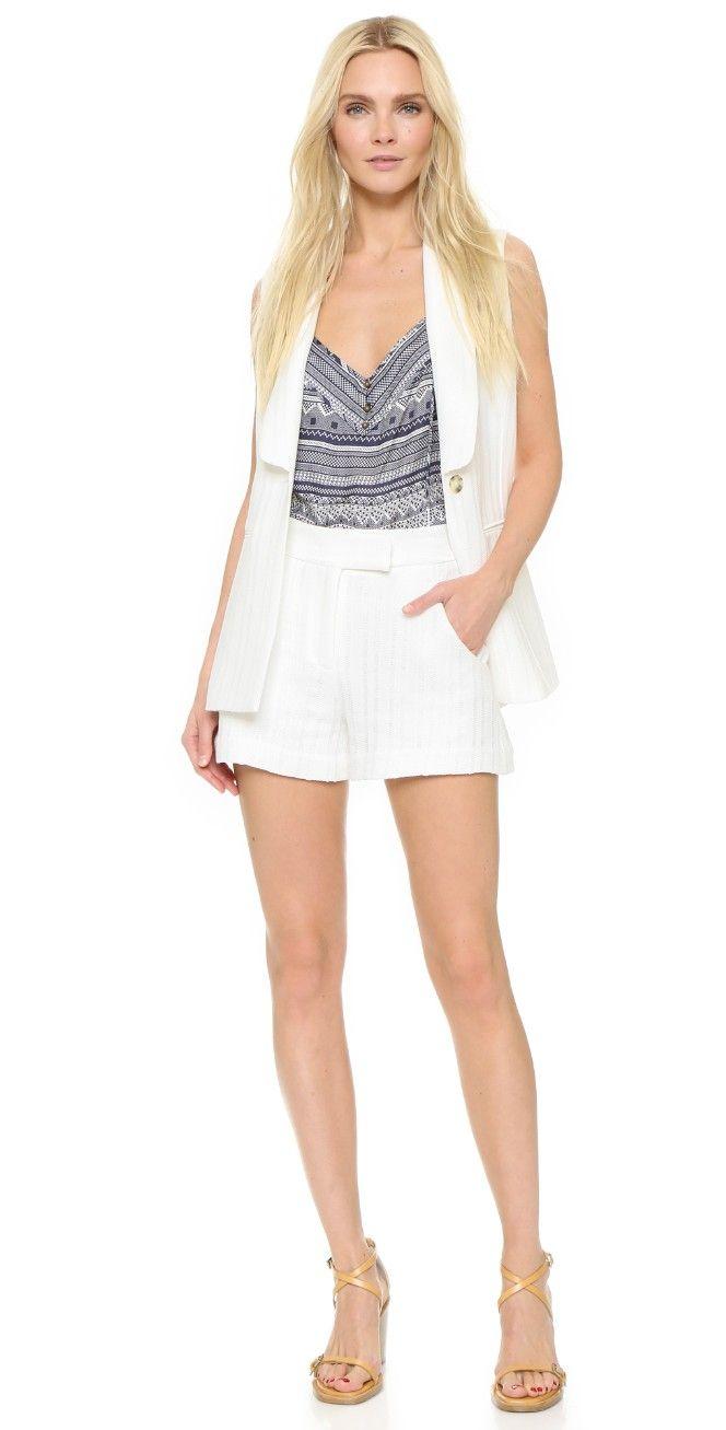 Veronica Beard Tropicana Tailored Shorts | SHOPBOP
