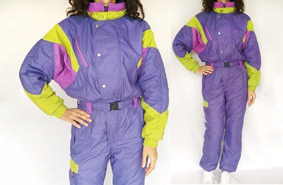 Unisex Men/'s Women/'s One Piece Snowsuit Block-colored Vintage Ski Suit Winter Snowboard Suit Jumpsuit Vintage 90s Multicolored Ski Suit