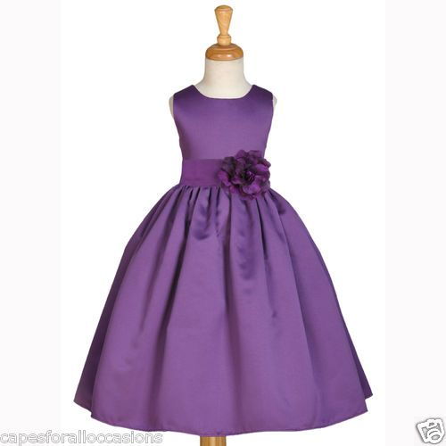 New Plum Purple Pageant Holiday Formal Flower Girl Dress 2 2T 3 3T 4 5 6 6X 8 10 | eBay