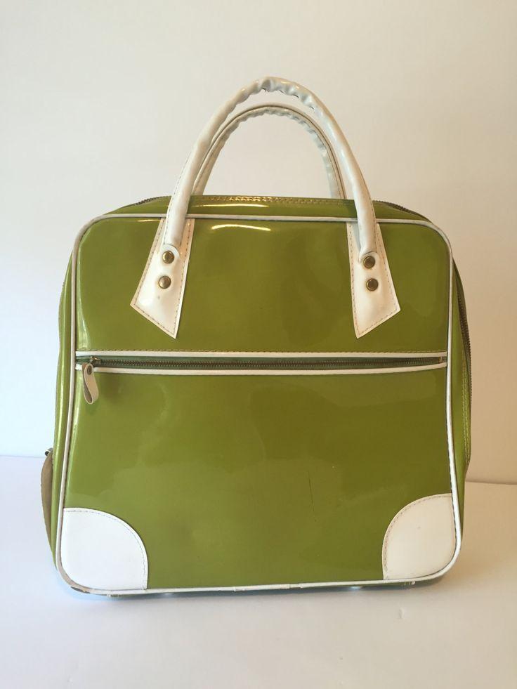 Vintage Avocado Hemenway Carry On Suitcase, Train Case, Purse, Small Luggage, Overnight Bag, Mid Century Luggage by GirlGoesVintage on Etsy