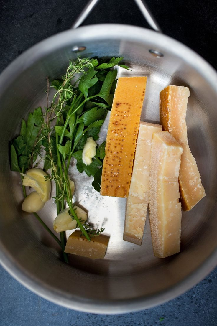 Parmesan rinds can be stored in the freezer and used to make a rich cheese stock. (Photo: Andrew Scrivani for The New York Times)