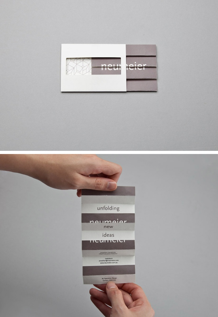 A business cards can be much more than a rectangle with 8,5x 5,5 cm.