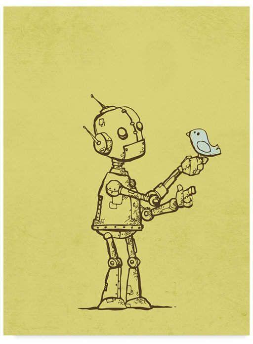 Michael Murdock 'Robot Bird' Canvas Art – 24 x 32