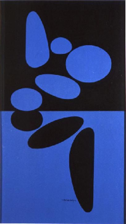 Victor Vasarely - Belle Isle Bleue, 1949
