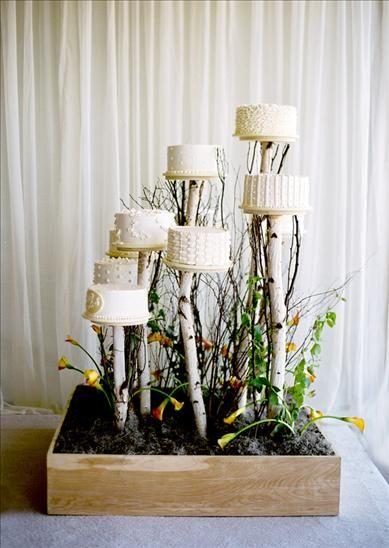 wedding cake branch stands