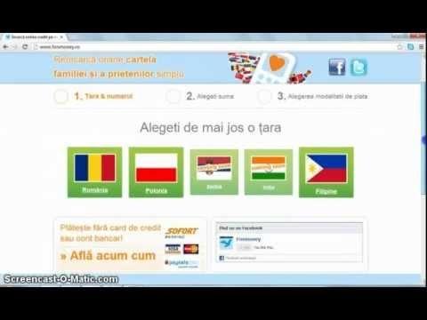 Reîncarcă prepay Cosmote:  Aici afli cum poți face o reîncărcare online Cosmote. Învață rapid să-ți încarci online cartela Cosmote. Sigur și instant!  http://www.fonmoney.ro  http://www.facebook.com/fonmoney  http://www.youtube.com/user/Fonmoney