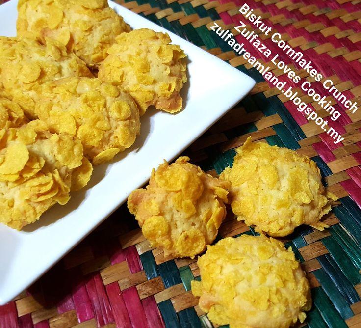 Biskut seterusnya untuk syawal 2017, Cornflakes crunch cookies/ Biskut conflakes crunch. Biskut ni guna resepi kak wan lagi....tahun n...
