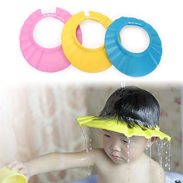 1 unid Accesorios Para Herramientas de Seguridad A Prueba de Agua de Baño Champú Bebé Gorro de Ducha de Baño Protect Soft Hat Para Niños Gorro de ducha Tonsee