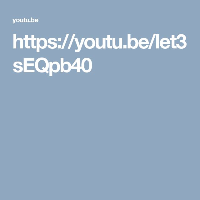 https://youtu.be/let3sEQpb40