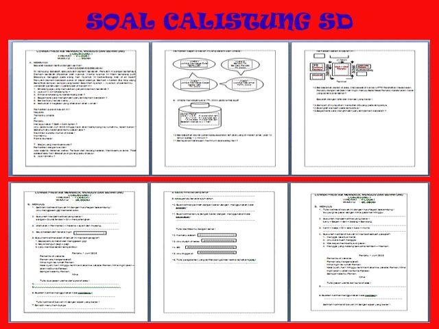 Soal Lomba Calistung Kelas 1 2 3 Sekolah Dasar (SD)
