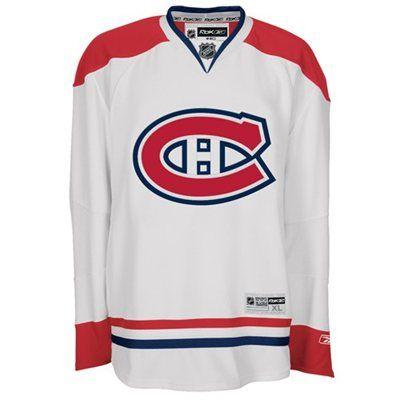 Reebok Montreal Canadiens White Premier Hockey Jersey #canadiens #habs #nhl