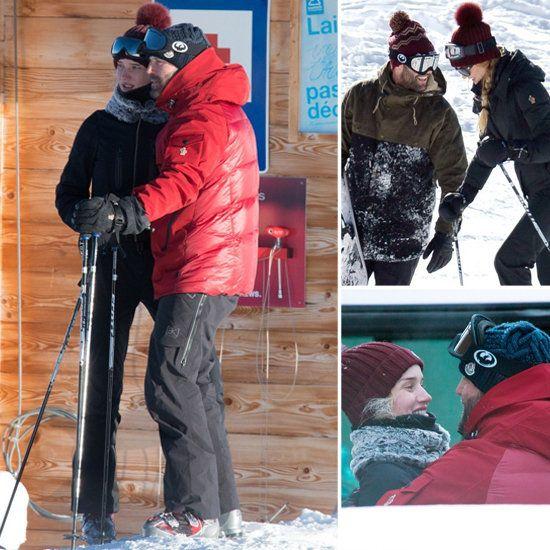 Jason Statham and Rosie Huntington-Whiteley Kiss Skiing