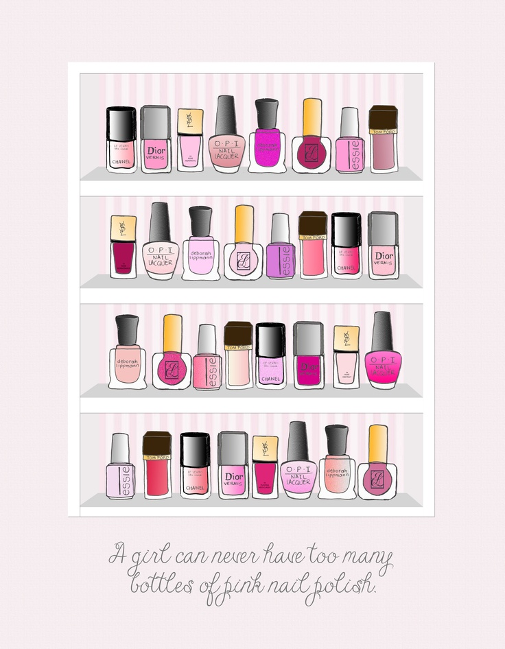 Nail polish illustration by me for http://sweetnrawme.com/2012/11/29/sweet-trouble-pink-gets-me-high-as-a-kite/