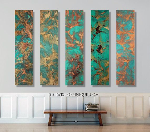 Oxidized metal Abstract Painting CUSTOM 5 panel  by TwistOfUnique