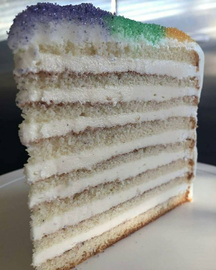 Cream Cheese King Cake Doberge from Bakery Bar New Orleans