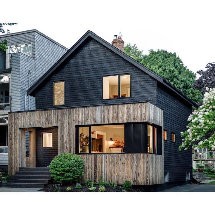 Voici une superbe maison réalisée par l'architecte et contracteur Peter Braithwaite Studio à Halifax, en Nouvelle-Écosse. Il a utilisé notre lambris profilé de clin rainuré dans la couleur sur mesure Cuir de limousine par BehrPaint. Photo par Julian Parkinson