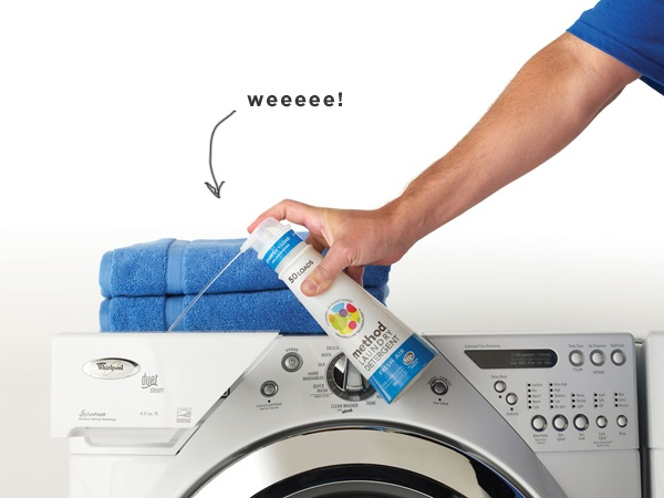 Method laundry detergent  Four pumps for one sweet load. It's so easy to use, you need to use so little for each load, and it doesn't irritate all of the sensitive skin issues in our house. Did I mention easy to use?