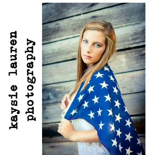 Kaysie Lauren Photography. Summer time, all American, flag, south georgia