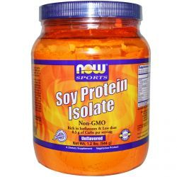 Now Foods, Sports, Soy Protein Isolate, Unflavored, 1.2 Lbs (544 G), Diet Suplements 蛇
