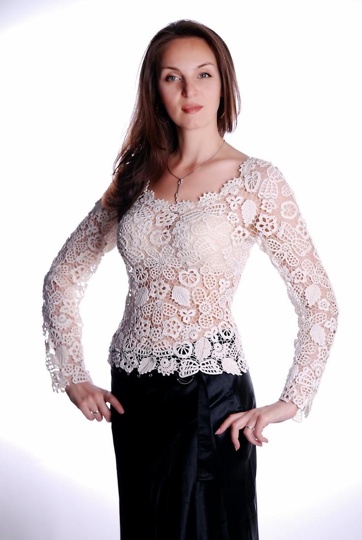 Croshet blouse. $480.00, via Etsy.