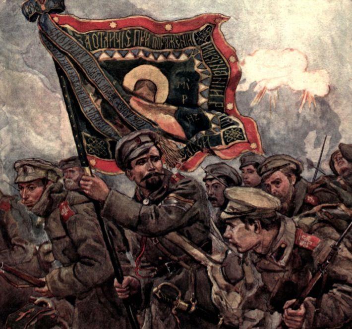 Russian Civil War. White Army.