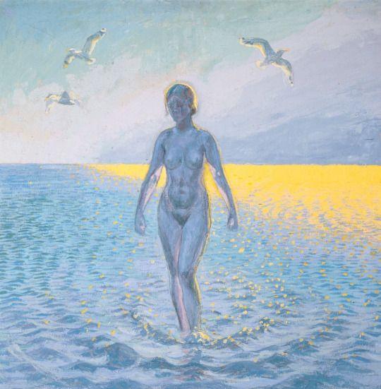 Morning sun, 1923 - Johannes Larsen (Danish, 1867-1961)